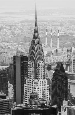 Chrysler Building, View from Rockefeller Center, Manhattan, New York City