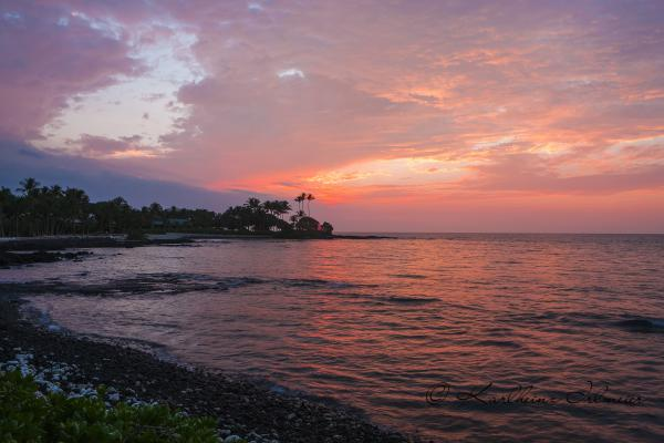 Sonnenuntergang an der Kohala Coast, Big Island, Hawaii
