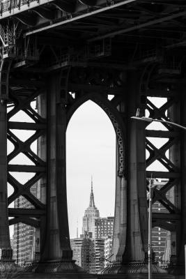 Manhattan Bridge,  Empire State Building, New York City
