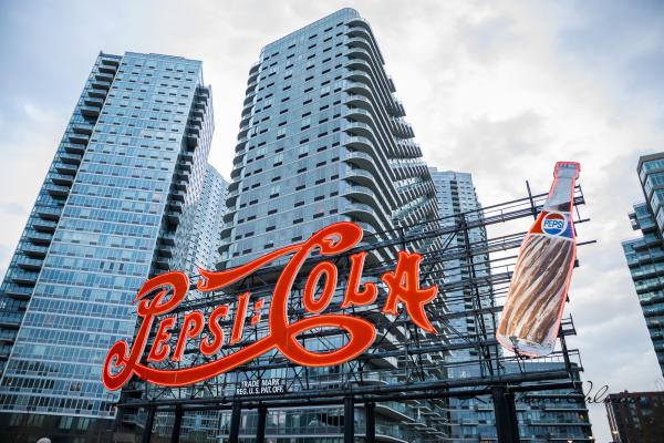 Historische Pepsi Cola Leuchtreklame, Long Island City, Queens, New York City