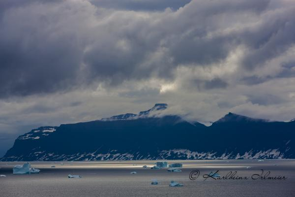 Iceberg and early morning mist, Scoresby Sund
