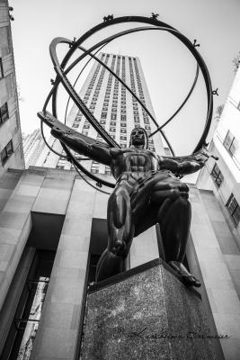 Atlas Statue am Rockefeller Center, Manhattan, New York City