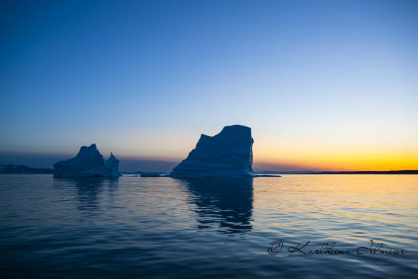 Iceberg at Sunset, Scoresby Sund