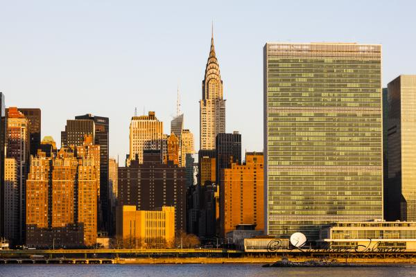 Chrysler Building, United Nations, Manhattan, New York City